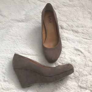 Faux Suede Wedges